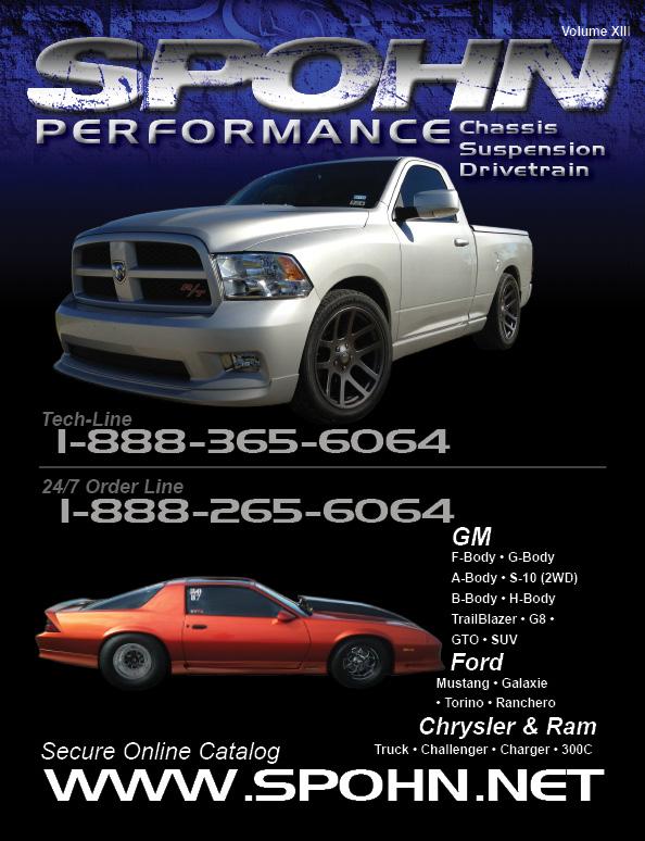 Spohn Performance 2013 Catalog