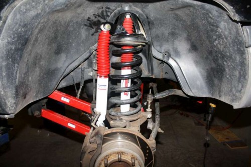 Dodge Ram Dual Front Shock Kit Installed