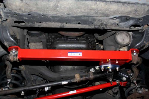 Steering Box Stabilizer Brace for the 1994-2002 Dodge Ram 4×4 with Borgeson 800112 Steering Box Installed