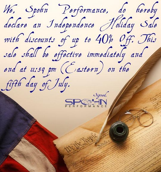 Spohn Independence Holiday Sale