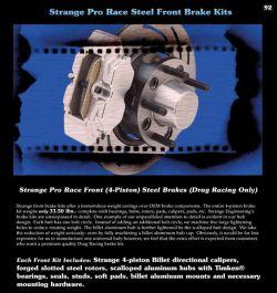 Strange Engineering B4118WC Front Brakes   1982-1992 F-Body Camaro