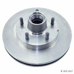 5547 Front Brake Rotor-Hub Assembly