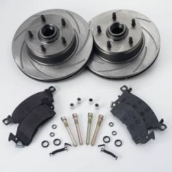 SSBC Brakes Slotted Front Rotors & Pads Package | A2350003