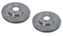 Drilled & Slotted Front Brake Rotors | 82-92 F-Body | 78-87 G-Body