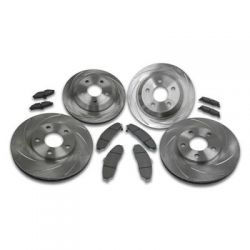 SSBC Brakes Slotted Rotors & Pads Package | A2350004