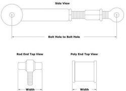 Adjustable Custom Built Tubular Control Arm | Spherical Rod End / Poly