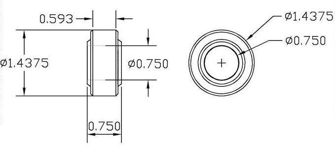 Com12t 3 4 Chrome Moly Spherical Bearing Teflon Lined