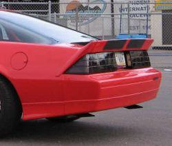 "Fiberglass 5"" Camaro Rear 3 Piece Spoiler | 82-86 Camaro 91-92 Camaro"