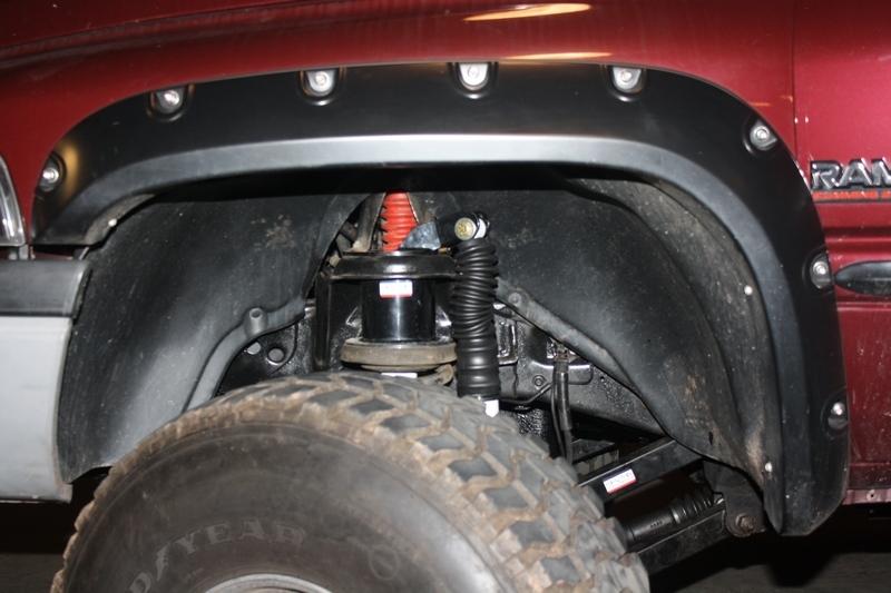 Dual front shock mounting kit lift kit 1994 1999 dodge ram 4x4