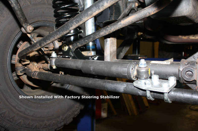hd front steering stabilizer tie rod mount jeep jk
