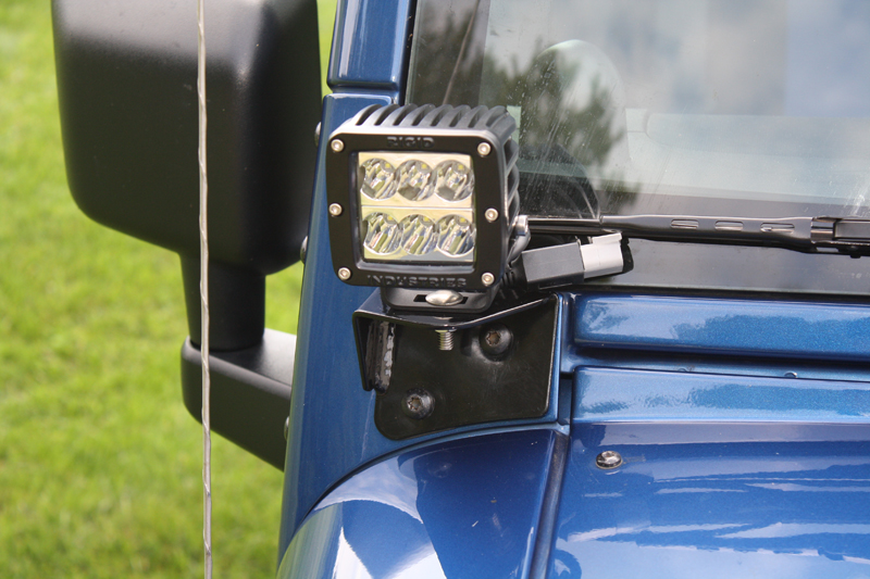 Lower Front A Pillar Auxiliary Light Mounts Jeep Jk Wrangler